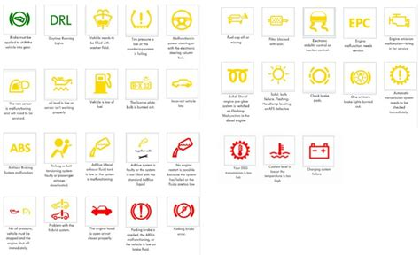 What Do All The Vw Dashboard Warning Lights