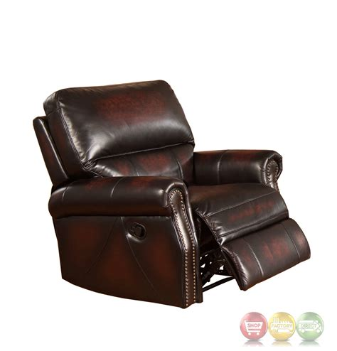 top leather recliners brooklyn burgundy lay flat recliner in top grain leather
