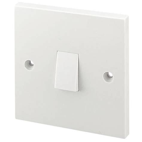 masterplug electrical light switch 1 2 way white