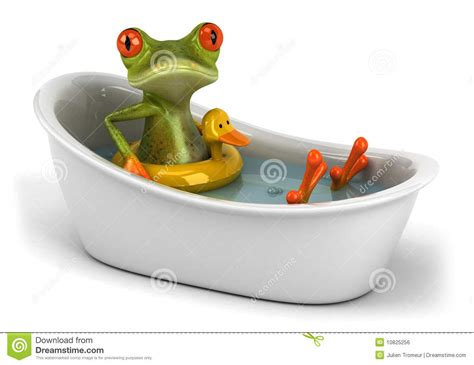frog in bathtub frog in a bath royalty free stock image image 10825256