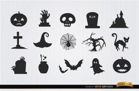 simbolos o imagenes de halloween scary symbols halloween icon set vector free download