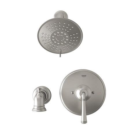 grohe shower valve ebay grohe gloucester brushed nickel 1 handle watersense