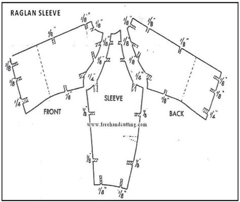 Pattern Grading Raglan | how to grade sleeves pattern making com
