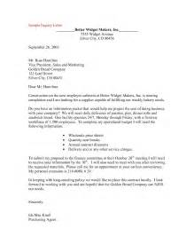 Well Written Cover Letter Exles by Exle Of Inquiry Business Letter The Best Letter Sle