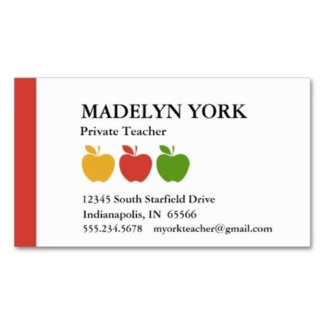 business cards for teachers templates free tutor business cards business cards pinte