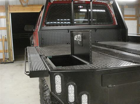 custom truck tool boxes for flatbeds lets see your snowmobile flat bed setups page 2 back