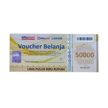 Voucher Alfamart 50 000 1 jual alfamart 50 000 voucher fisik belanja harga
