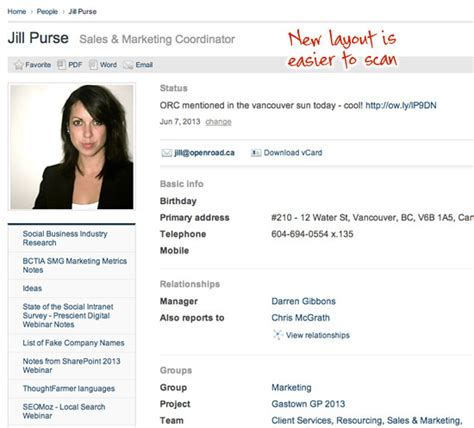 employee profiles amp image cropping new intranet software