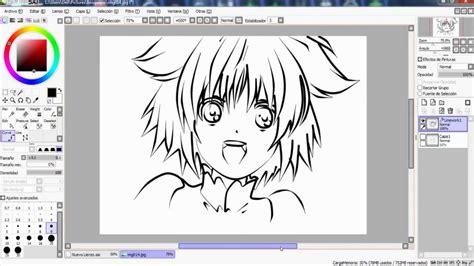 paint tool sai para que es speed dibujo profesional de anim 233 con mouse ep 1