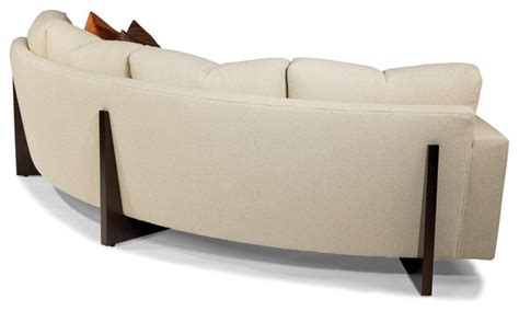 back to back sofas curved back and clip curved sofa back view from thayer