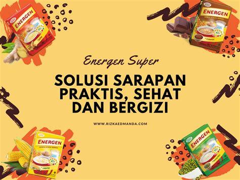 Sereal Energen energen solusi sarapan praktis sehat dan bergizi