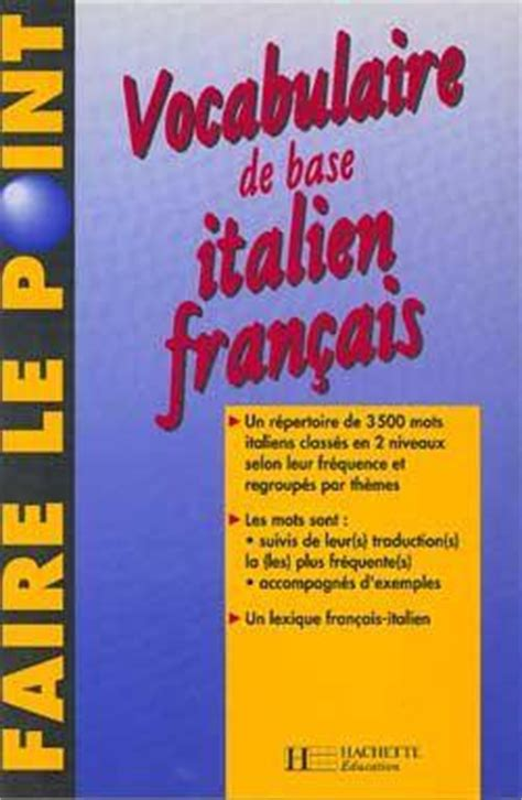 libro vocabulaire grec de base livre vocabulaire de base italien francais georges ulysse