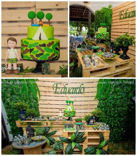 moana boat pallet kara s party ideas camouflage cing birthday party