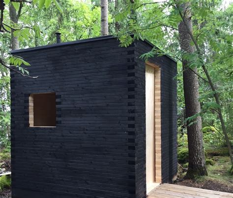 Spa En Bois Exterieur 4416 by Shou Sugi Ban Outside Toilet At Finland Shou Sugi Ban