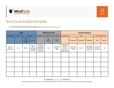 Root Cause Analysis Template 01 Excel Resume Exles Sle Resume Resume Template Free Cause Mapping Template Excel