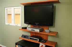 Wall Mount Entertainment Shelf Thad Mills Wall Mounted Tv Shelving Project