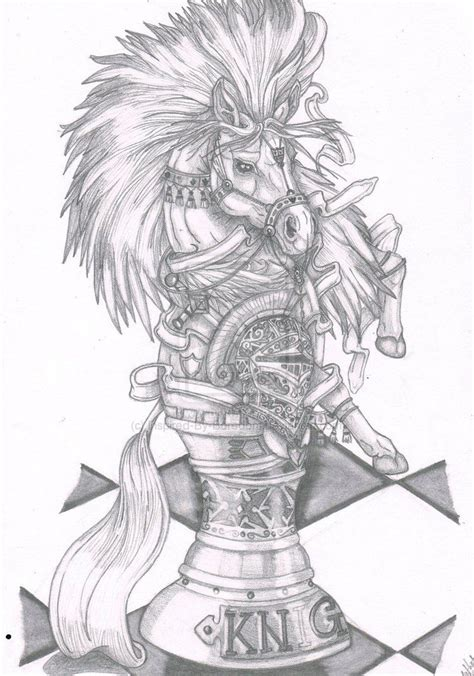 knight chess piece tattoo beautiful chess drawing this for my best