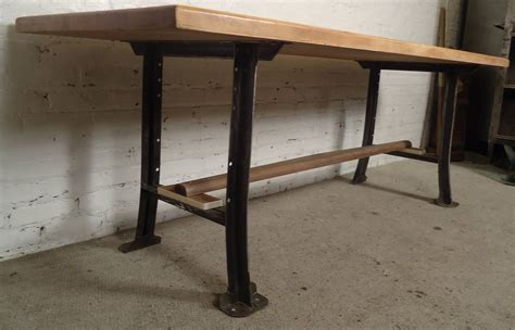 furniture butcher block dining table for sale dining butcher block dining table on solid iron legs for sale at 1stdibs