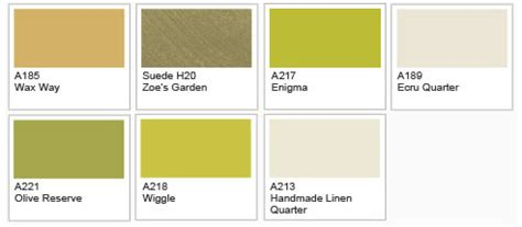 dulux paint green colour chart