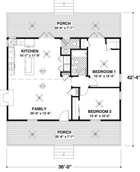 cabin style house plan 2 beds 1 baths 900 sq ft plan 18 327 cottage style house plan 2 beds 1 5 baths 954 sq ft plan