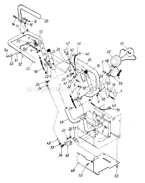 craftsman snowblower parts diagram craftsman 247886700 parts list and diagram