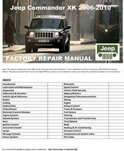 jeep xk 2006 2010 commander factory service manual ebay