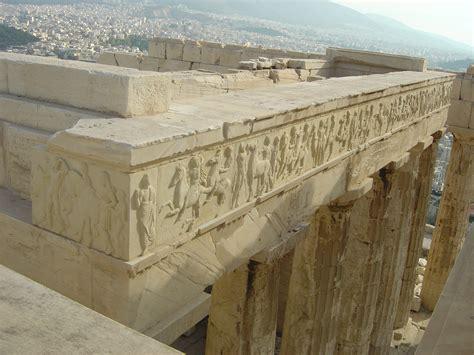 Parthenon Cornice I Hellas Acropolis Restoretion Parthenon