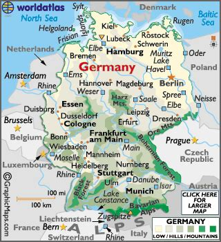 labeled map of germany germany map geography of germany map of germany