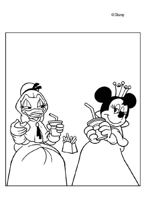 princesses daisy duck and minnie mouse coloring pages
