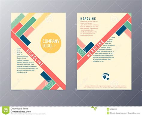 Colorful Modern Design Flyer Template Vector Stock Vector Illustration Of Text Blue 47853729 Modern Template