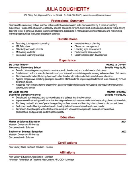 Resume Simple by Free Resume Exles By Industry Title Livecareer