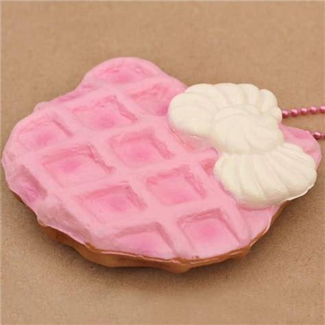 Squishy Hello Waffle pale pink hello waffle bow squishy charm