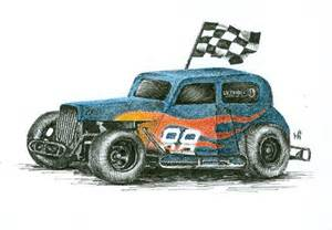 race car cross hatch drawing in ink portraits by