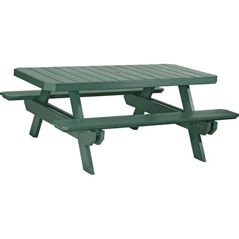 poly 6 foot rectangle picnic table