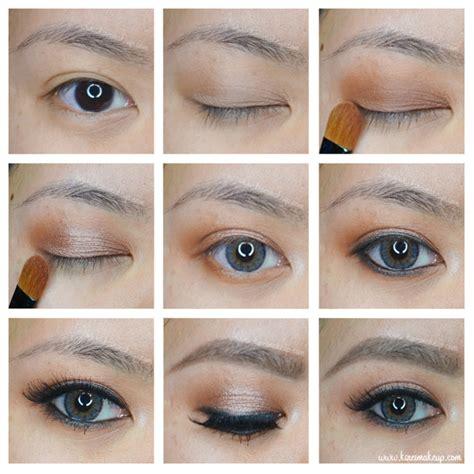 Tutorial Eyeshadow Wardah M brown smokey eye makeup tutorial kirei makeup