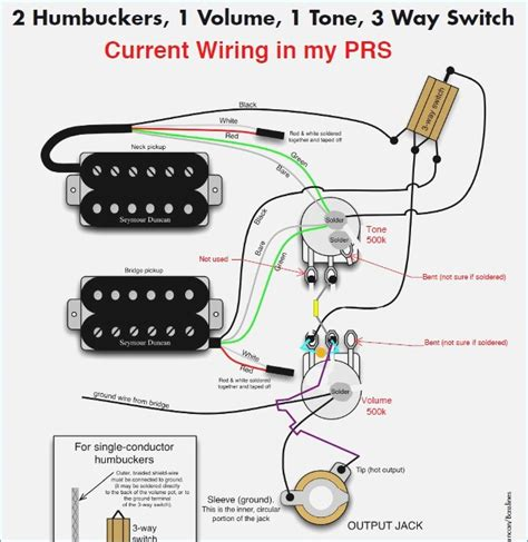switch volume 1 2 humbuckers 1 volume 1 tone 3 way switch wiring diagram with description