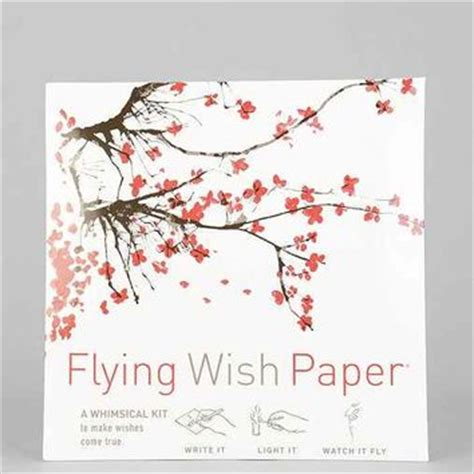 How To Make Flying Wish Paper - flying wish paper diy kit white one from outfitters