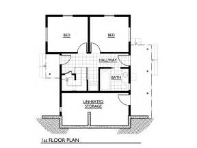 Small Modern House Plans Under 1000 Sq Ft Cottage Style House Plan 2 Beds 1 00 Baths 1000 Sq Ft