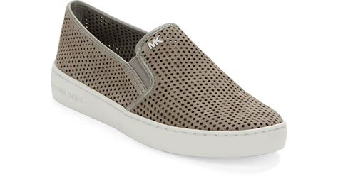 michael kors slip on sneakers michael michael kors brett perforated suede slip on