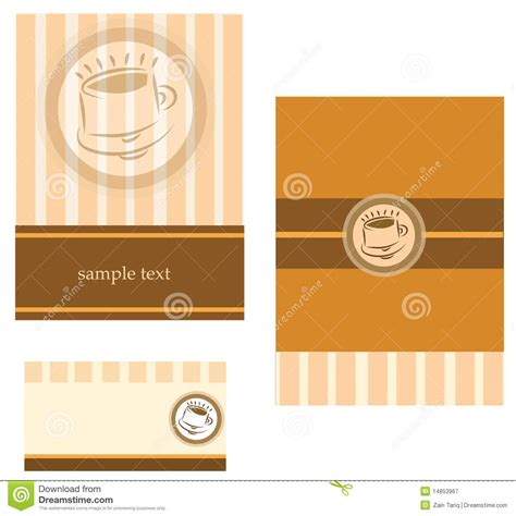coffee business card template free template designs of business card for coffee shop stock vector image 14853967