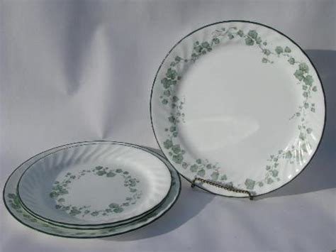 corelle leaf pattern green callaway ivy pattern corelle corning glass dishes