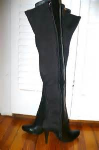 Victorias Secret Sequin The Knee Stretch Boot It Or It by S Secret Thigh High Stretch Leather Boots New
