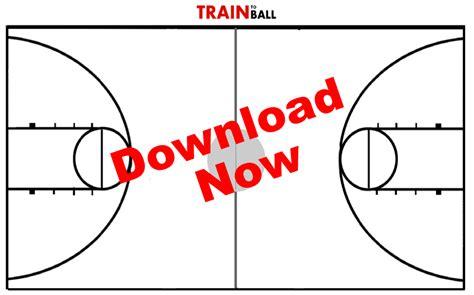 Printable Basketball Court Diagram