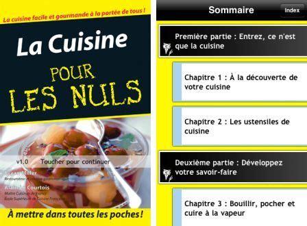 la cuisine pour les nuls bons plans app store du 29 avril 2011