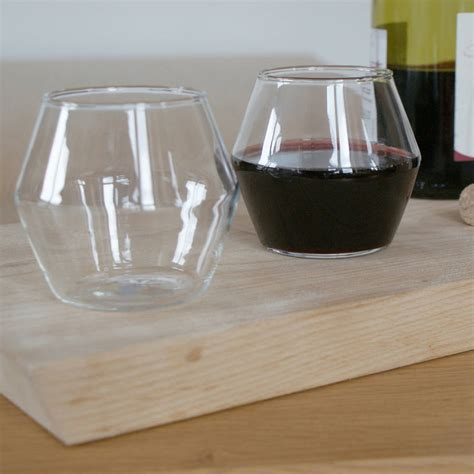 modern wine glasses four handblown modern wine glasses by huta
