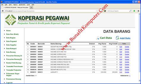 contoh desain database aplikasi koperasi source code koperasi pegawai sistem penjualan tunai