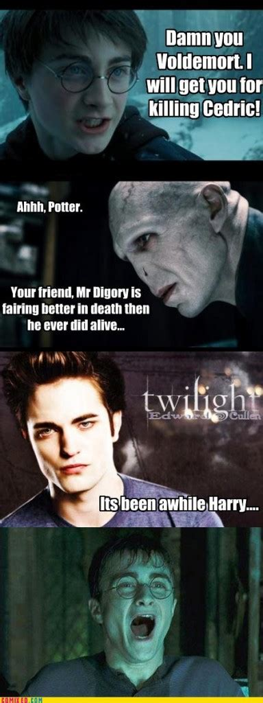 Meme Harry Potter - harry potter twilight funny