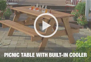 rolling cooler with built in picnic table 25 best ideas about picnic table cooler on