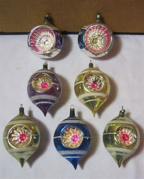 vintage ornaments antique glass christmas ornaments lot of 7 w star design