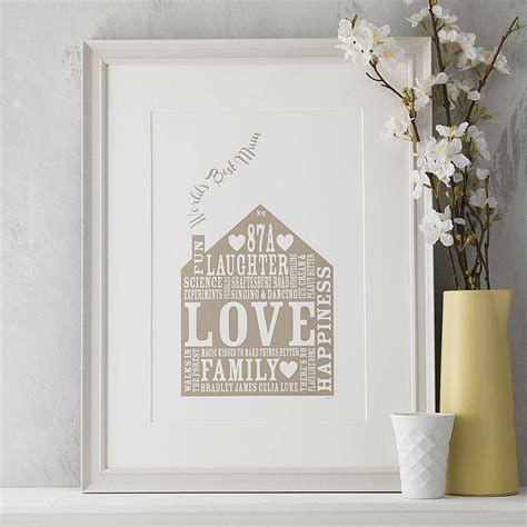 gifts for home personalised our home print by allihopa notonthehighstreet com